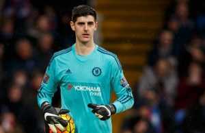 Editorial use only. No merchandising. For Football images FA and Premier League restrictions apply inc. no internet/mobile usage without FAPL license - for details contact Football Dataco  Mandatory Credit: Photo by Ben Queenborough/BPI/REX/Shutterstock (5505550w)  Goalkeeper Thibaut Courtois of Chelsea during the Barclays Premier League match between Crystal Palace v Chelsea played at Selhurst Park, London on January 3rd 2016  Barclays Premier League 2015/16 Crystal Palace v Chelsea Selhurst Park Stadium, Whitehorse Ln, London, United Kingdom - 3 Jan 2016