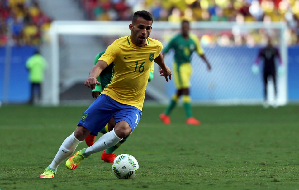 Football - Men's First Round - Group A Brazil v South Africa