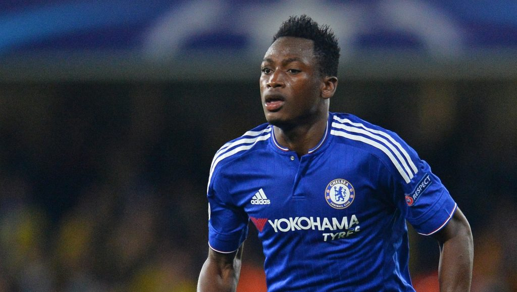 Baba Rahman in action for Chelsea.