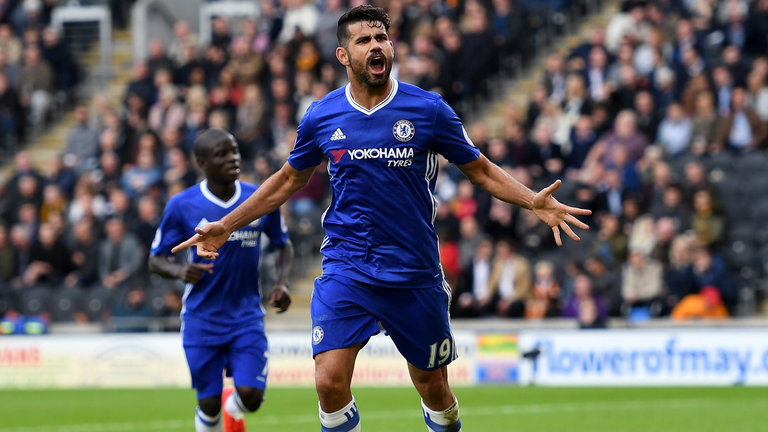 Costa cracker fires Chelsea back on top on low-scoring day