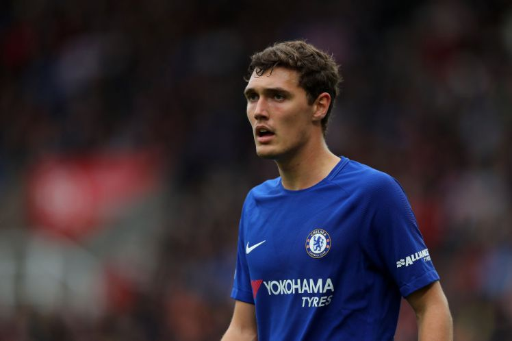 Andreas Christensen was sent off against Liverpool