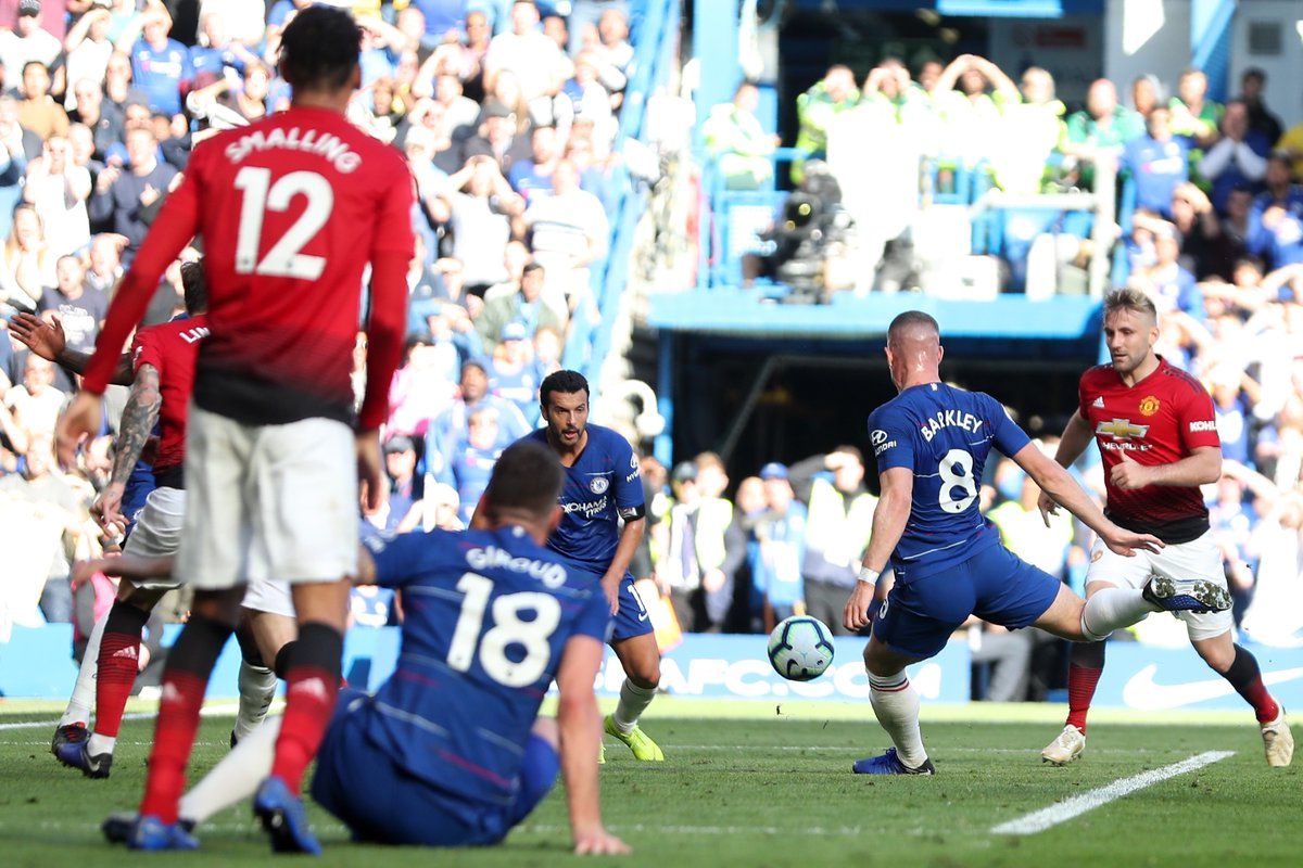 Ross Barkley scores against Manchester United