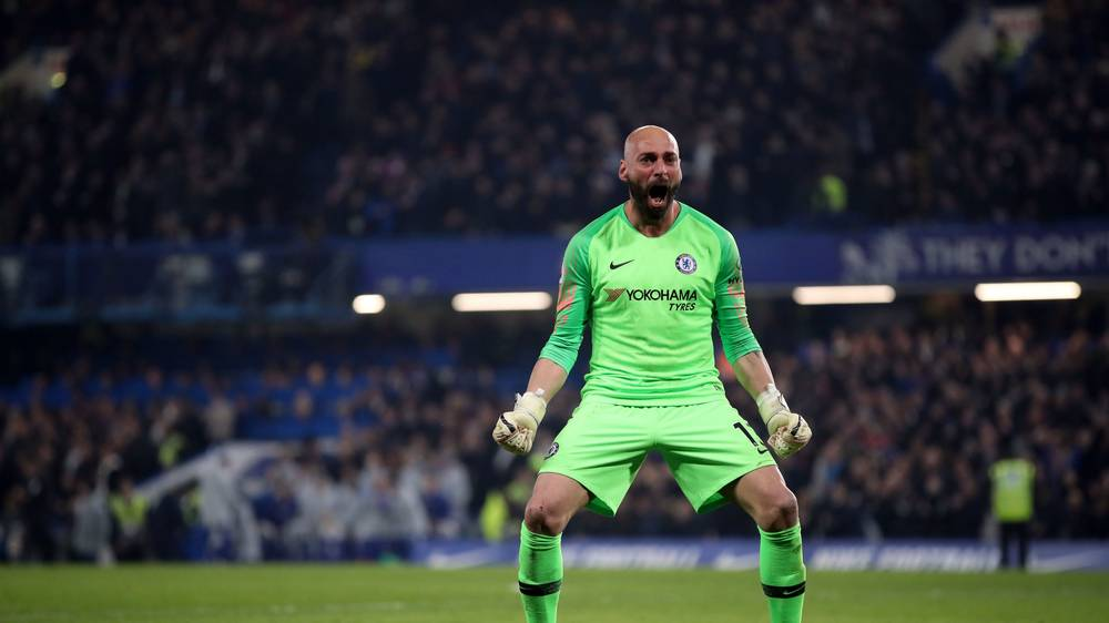 Willy Caballero could start in goal for Chelsea