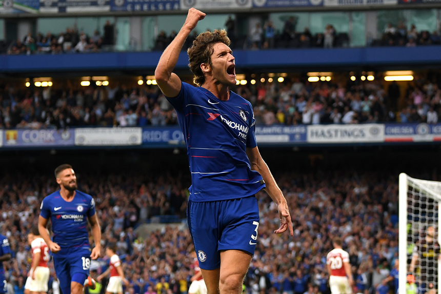 Marcos Alonso was substituted   at half-time against Barnsley for Chelsea.