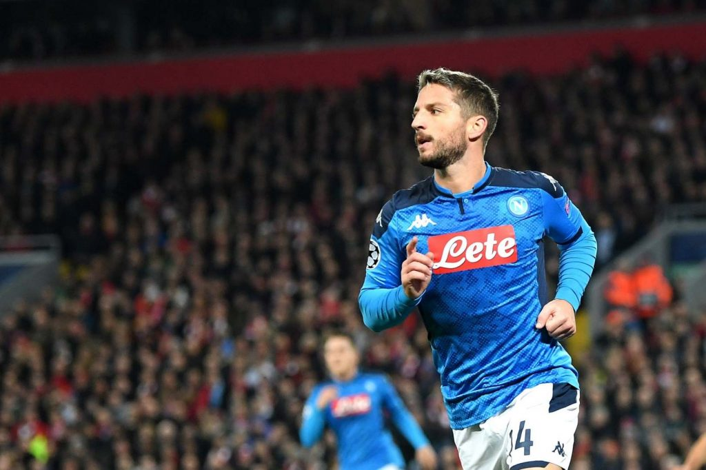 Frank Lampard is in touch with Dries Mertens