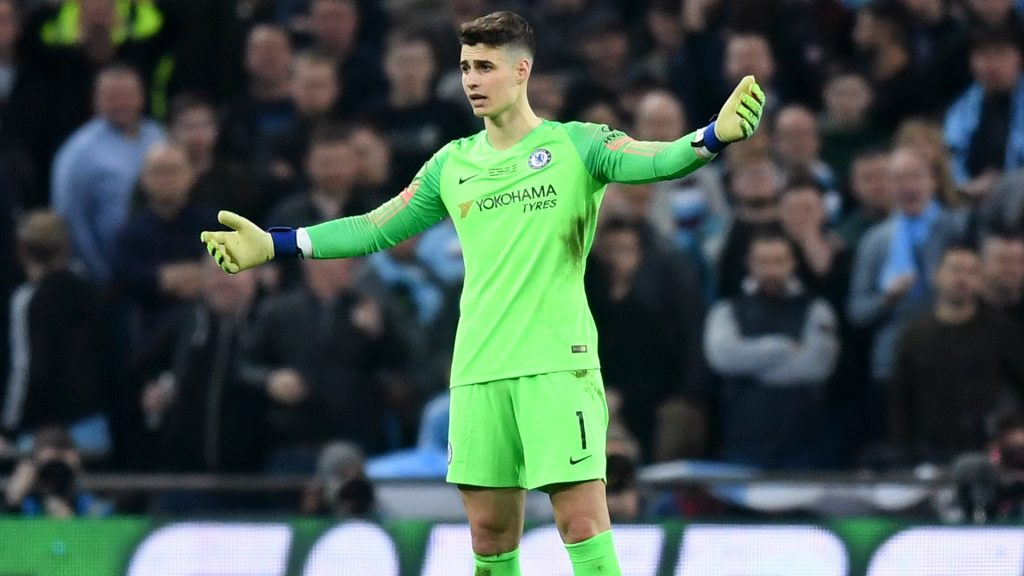 Chelsea manager Frank Lampard declared that he is happy with under-fire goalkeeper Kepa Arrizabalaga.