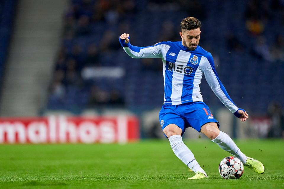 Alex Telles looked to be on his way to Chelsea