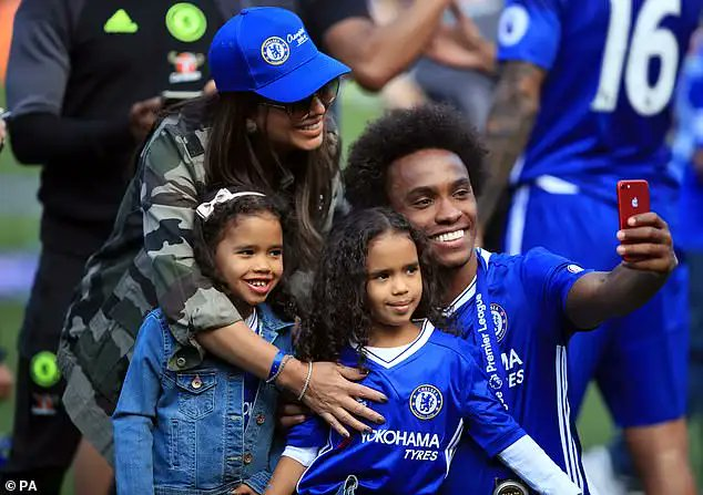 Willian is back in Brazil with his family