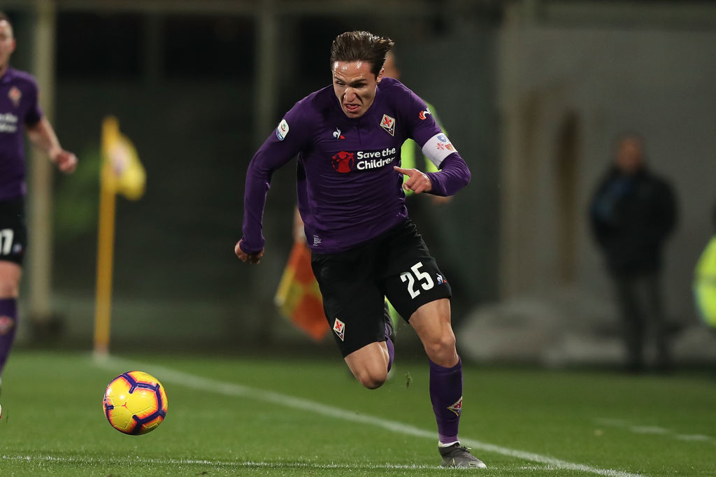 Federico Chiesa during his time at Fiorentina