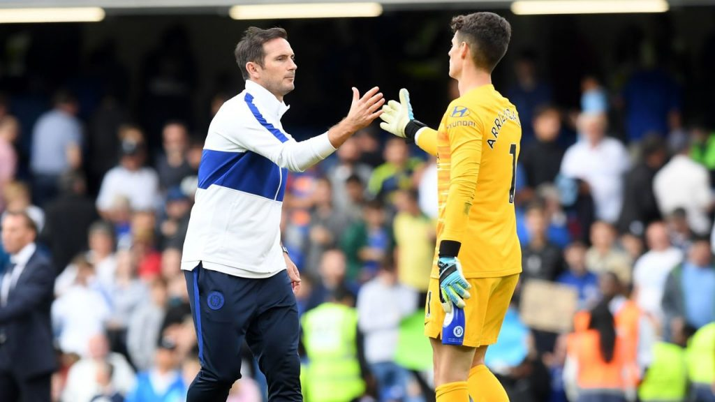 Frank Lampard was not convinced by Kepa Arrizabalaga