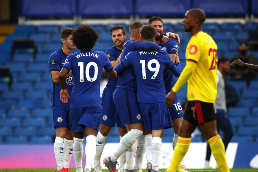 Chelsea are currently in the thrid spot