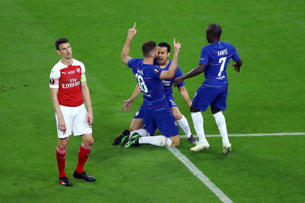 Giroud scored against Arsenal in the Europa League Final 2019