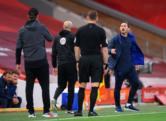 Lampard had a go at the Liverpool bench during the game (Getty Images)