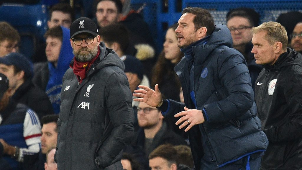 Lampard trails Klopp's Liverpool by just 2 points after 9 games into the season. (GETTY Images)