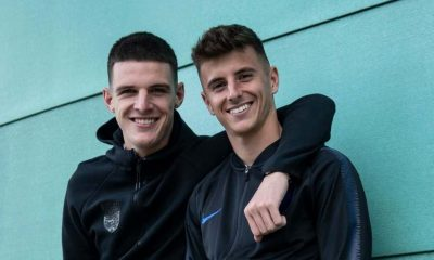 Declan Rice and Mason Mount were together at Chelsea during the academy days
