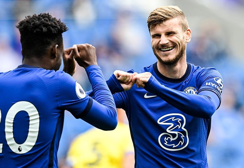 Timo Werner scored against Brighton (Credit: Twitter/ChelseaFC)