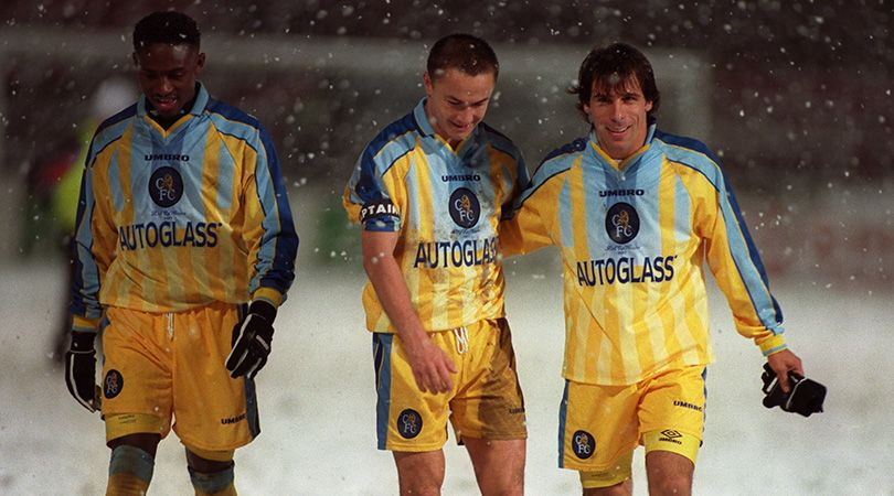Chelsea's away kit from 1997/98 was eye catching
