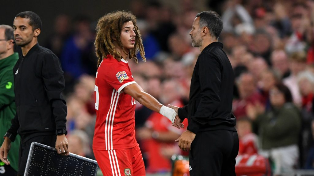 Ethan Ampadu was taken off with an injury while playing for Sheffield United