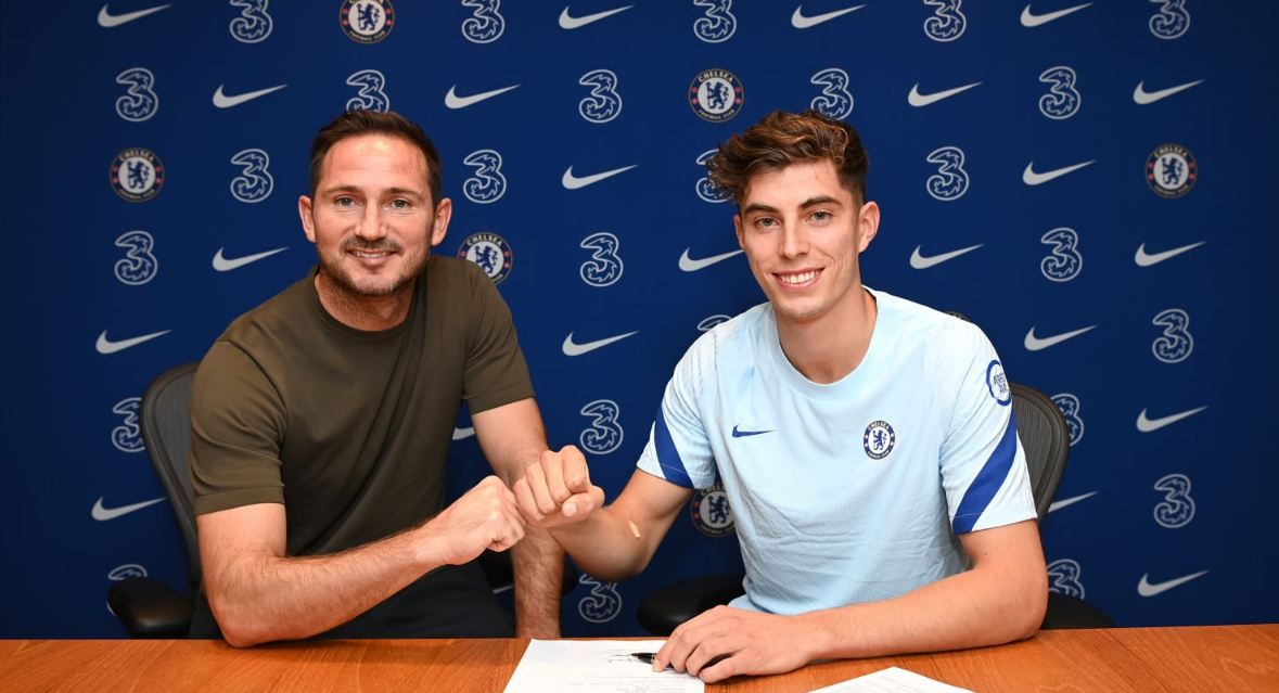 Chelsea signed Kai Havertz from Bayer Leverkusen