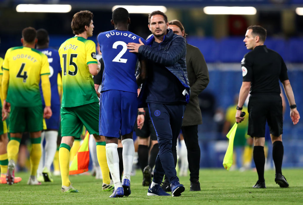 Frank Lampard shares a positive relationship with Chelsea defender Antonio Rudiger