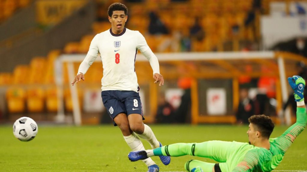 The 17-year-old won his first cap for England earlier this month