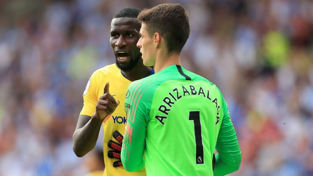 Antonio Rudiger (L) has played in just 1 Premier League game this season. (GETTY Images)