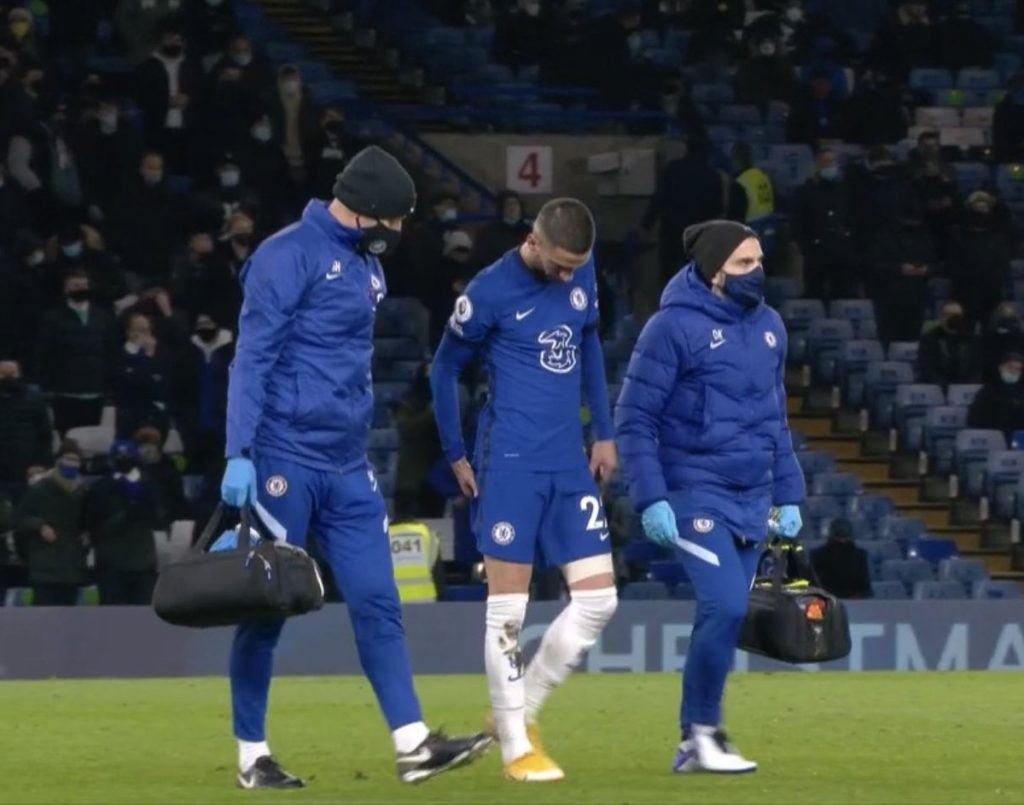 Chelsea stars Hakim Ziyech and Callum Hudson-Odoi have injured their hamstrings
