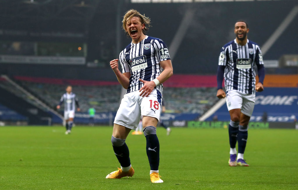 Chelsea loanee Conor Gallagher cntinues to impress at West Bromwich Albion