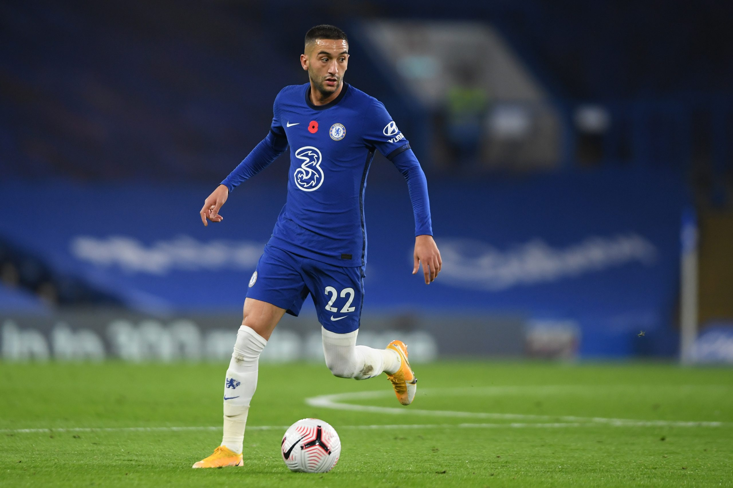 Hakim Ziyech in action for Chelsea. (GETTY Images)