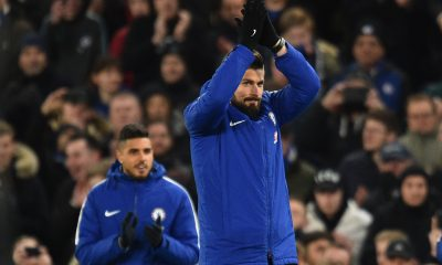 Emerson Palmieri (L) and Olivier Giroud (R) have been linked with a move to Juventus.