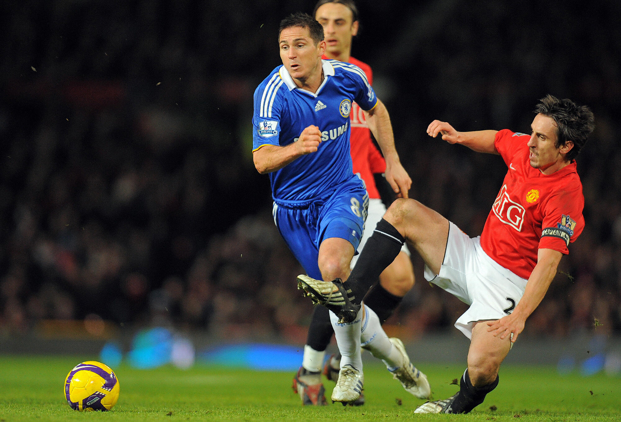 Gary Neville has hailed Frank Lampard (L) for his tactics in the 0-0 draw against Tottenham Hotspur. (GETTY Images)