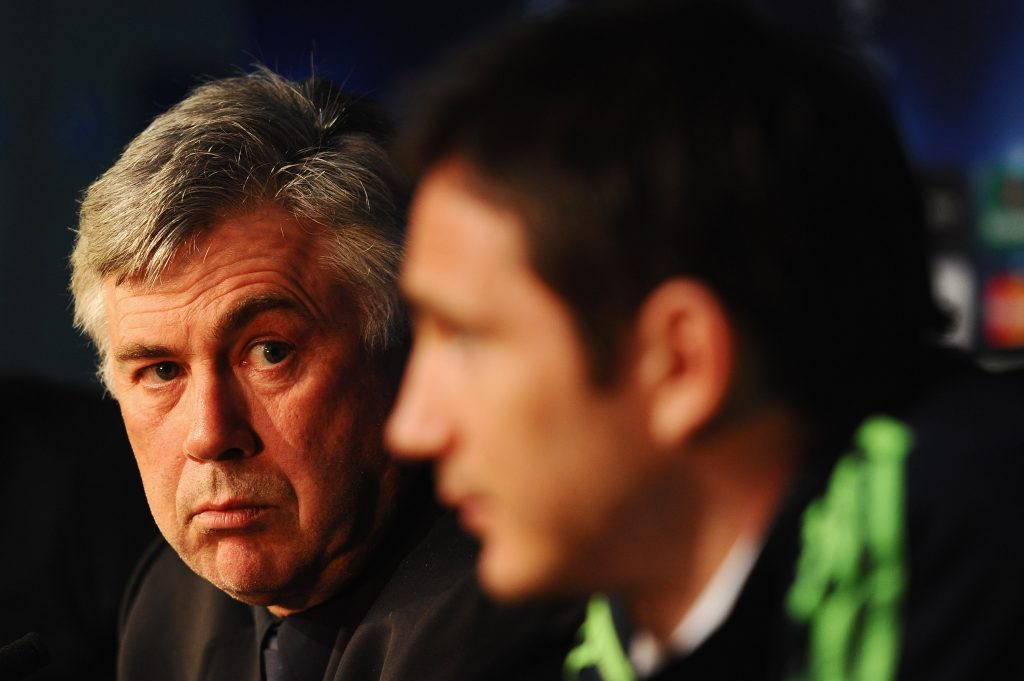 Frank Lampard has hailed the influence Carlo Ancelotti has had on his managerial career. (GETTY Images)