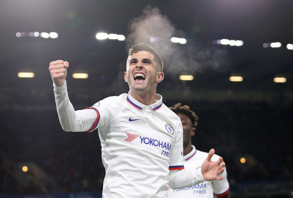 Christian Pulisic was one of the better players for Chelsea against Manchester United. (GETTY Images)