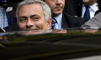 Jose Mourinho had to be smuggled out of Stamford Bridge in the boot of a car after being sacked by Chelsea in 2015. (GETTY Images)