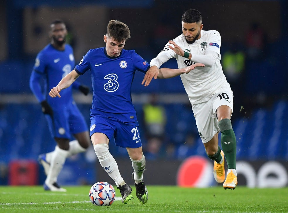Billy Gilmour started his first game for Chelsea this season against Krasnodar