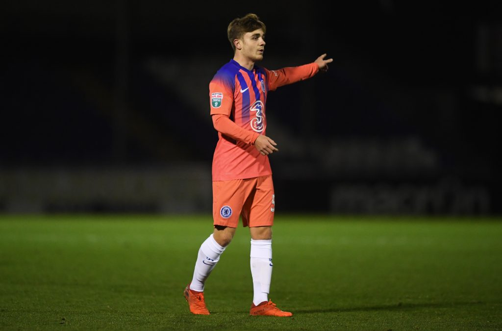 Lewis Bate in action for Chelsea U-23 in the EFL Trophy. (GETTY Images)