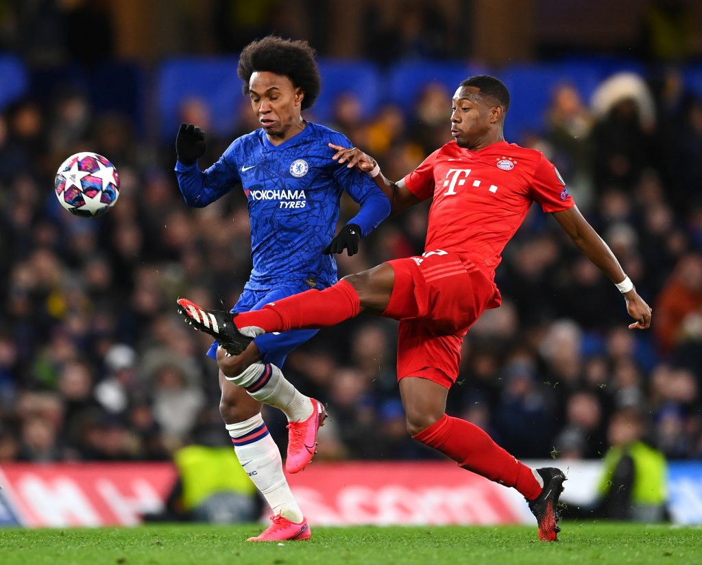 David Alaba against Chelsea in the UEFA Champions League. (GETTY Images)