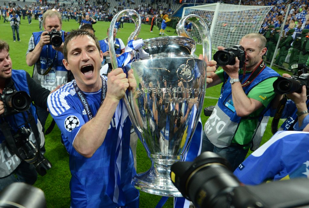 Frank Lampard won the UEFA Champions League with Chelsea in 2012 as a player. (GETTY Images)