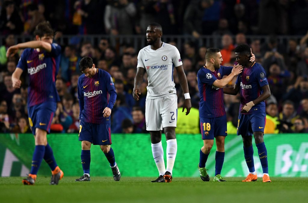 Antonio Rudiger playing for Chelsea against FC Barcelona in the UEFA Champions League. (GETTY Images)