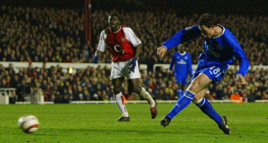 Chelsea boss Frank Lampard has delved into memory to rekindle memories of his first win over Arsenal as a Blue.