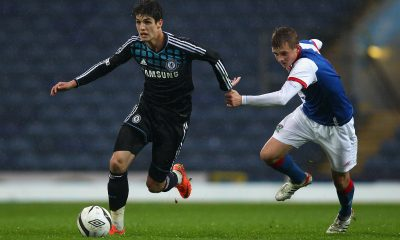 Lucas Piazon (L) in action for Chelsea . (GETTY Images)