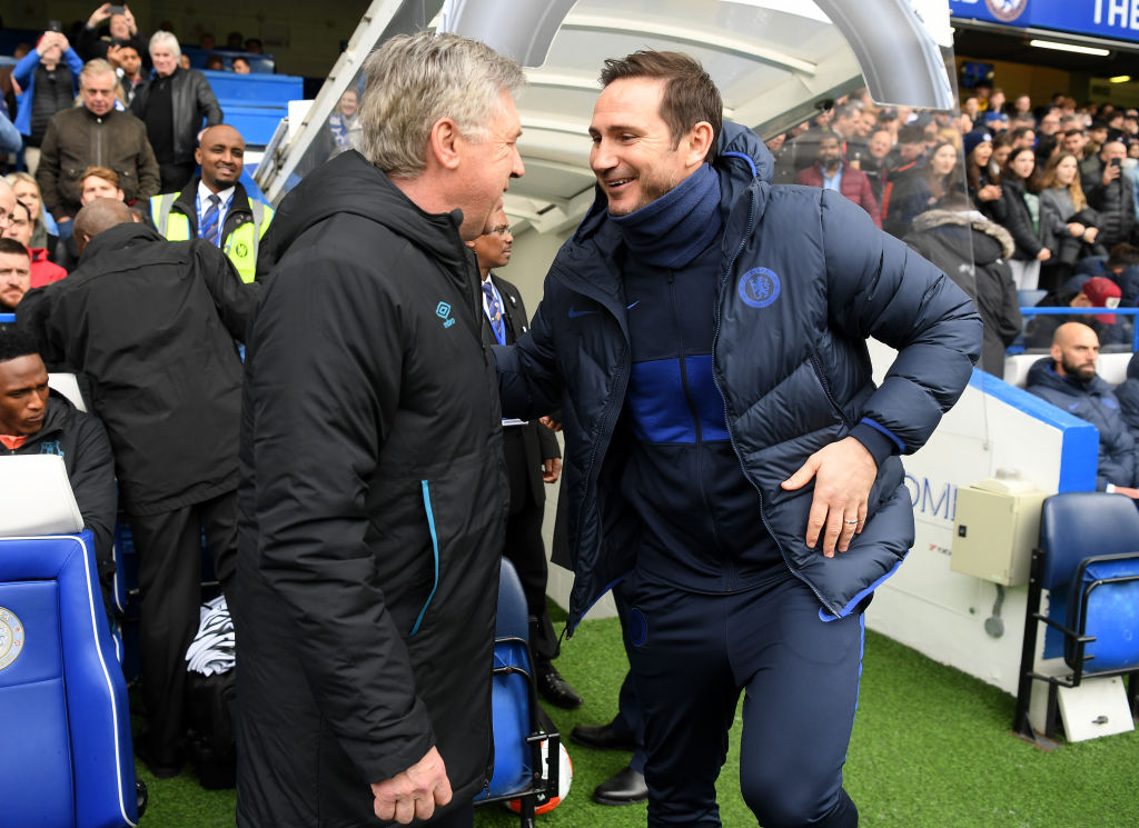 Carlo Ancelotti has asked Chelsea to give Frank Lampard the time he needs