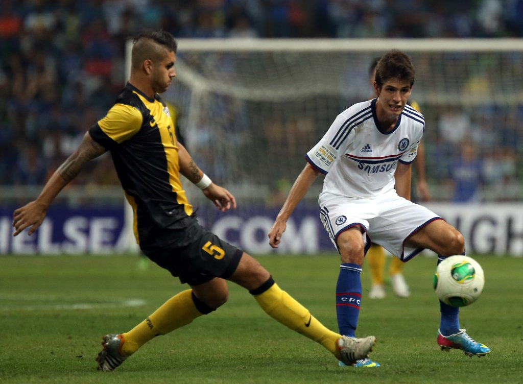 Lucas Piazon (R) in action for Chelsea against Malaysia XI. (GETTY Images)