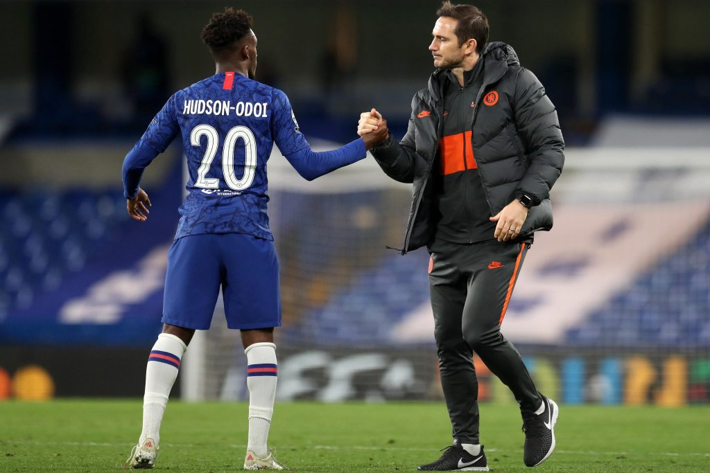 Chelsea manager Frank Lampard believes Callum Hudson-Odoi is doing better than ever