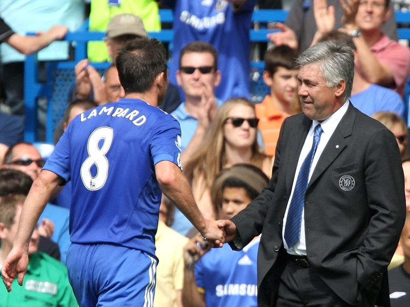 Lampard played under Ancelotti during his time at Chelsea