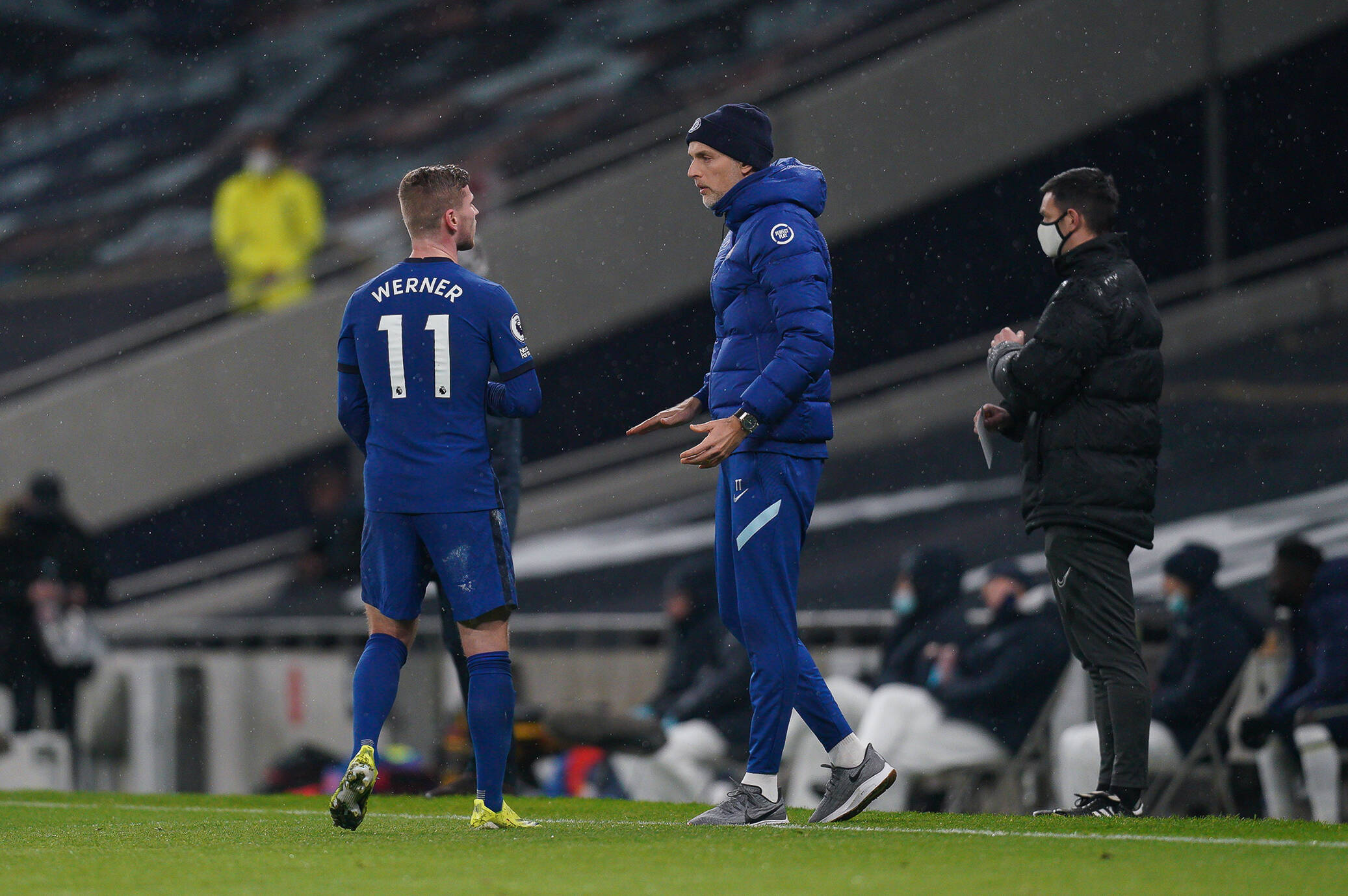 Tuchel had a go at Timo Werner during Chelsea's game vs Everton