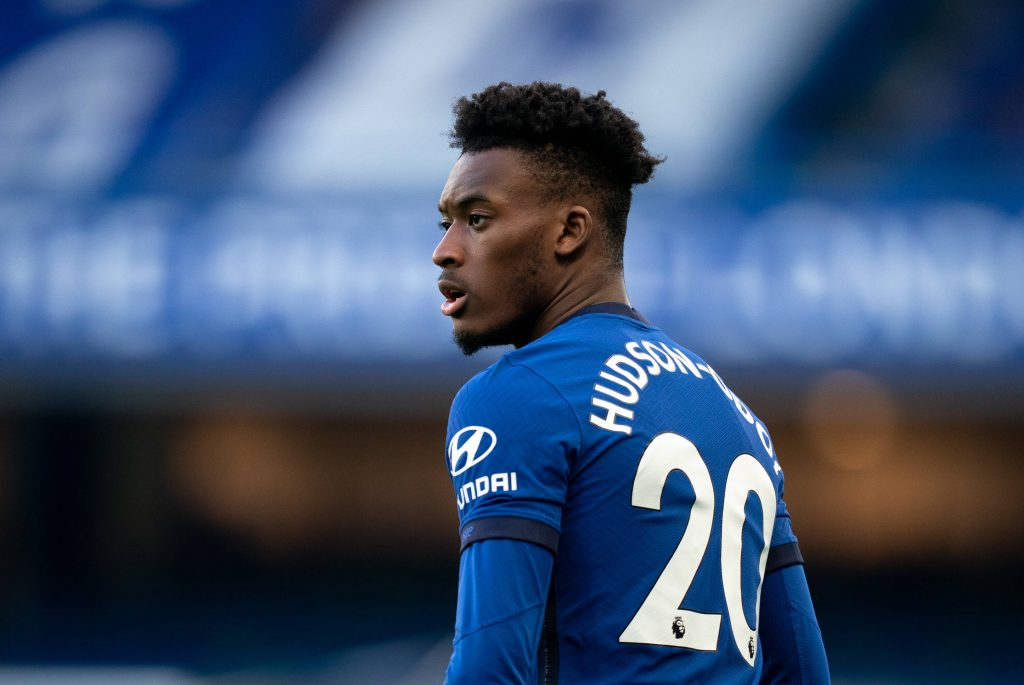Callum Hudson-Odoi in action for Chelsea. (imago Images)