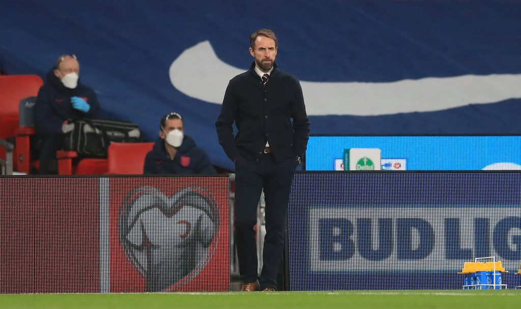 England manager Gareth Southgate watches on from the touchline (imago Images)