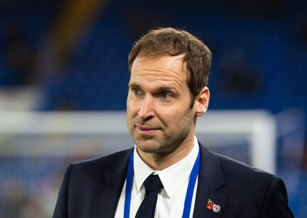 Petr Cech before the UEFA Champions League group match between Chelsea and Ajax at Stamford Bridge.