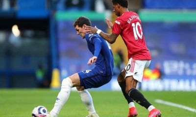 Andreas Christensen in action for Chelsea against Manchester United. (GETTY Images)